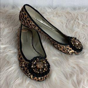 Adrienne Vittadini cheetah & jeweled toe